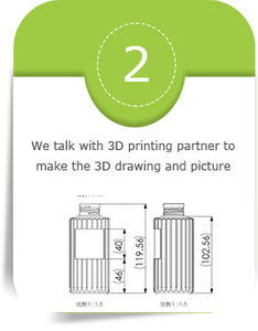 We talk with 3D printing partner to make the 3D drawing and picture